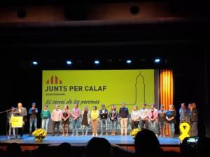 Foto presentació Junts per Calaf