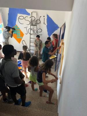 Grafiti a l'Espai Jove