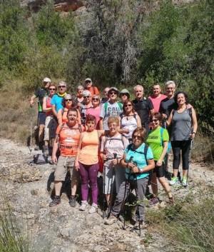 Grup participant a la sortida de la balma de la Vansa (La Noguera)
