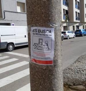 Es busca qui no ho ha fet bé - campanya de sensibilitació de mobles abandonats al carrer