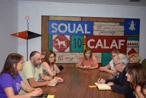 reunió amb el conseller d'Educació Josep Bargalló, Calaf 5 de juliol 2019