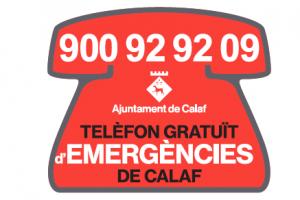 Imant nou telèfon d'emergències de Calaf