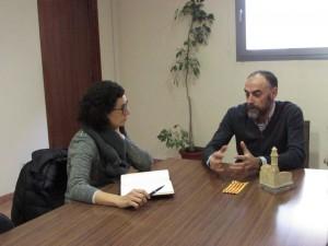 Marta Rovira reunida amb l'alcalde de Calaf