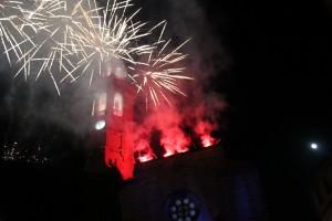 Els focs artificials van tancar quatre dies de festa.