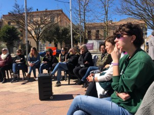 xerrada feminisme de classe 8 de març Calaf - 2020