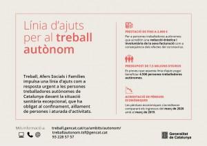 Infografia ajuts 2.000 euros autònoms Generalitat de Catalunya