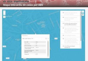 Mapa interactiu casos Calaf a data de 21 de juliol