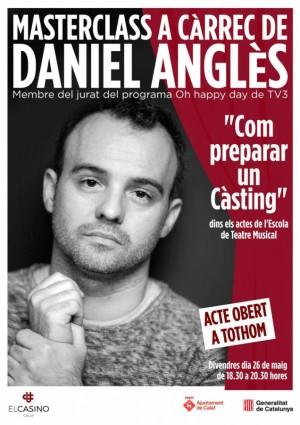 Cartell de la masterclass de Daniel Anglès