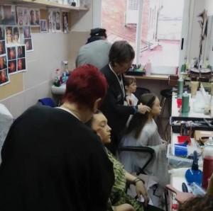 Maquillatge per l'assaig obert dels Pastorets Infantils solidari amb Marató tv3