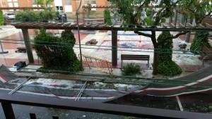 Plaça Alta Segarra pedregada 24 de juliol