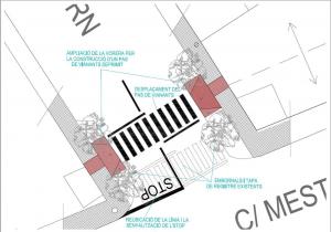 Plànol de la cruïlla nord de Pius Forn amb Mestre Manel Giralt