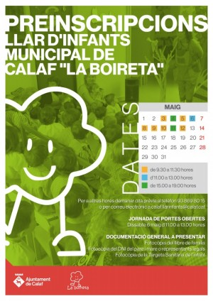 Cartell preinscripció Llar d'infants municipal 2017
