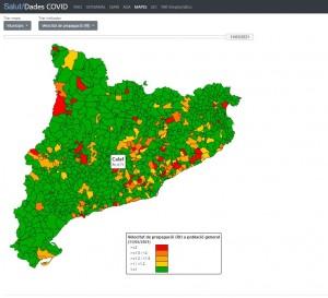 Velocitat de contagi Calaf - 11 de març