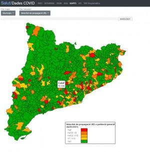 Velocitat de contagi Calaf - 4 de març