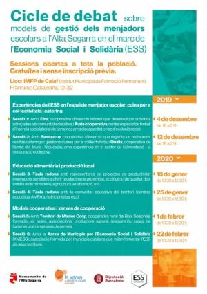 Cicle de debat de menajdors escolars en el marc de l'ESS
