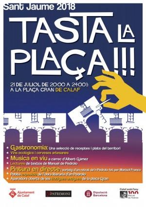 cartell Tasta la plaça