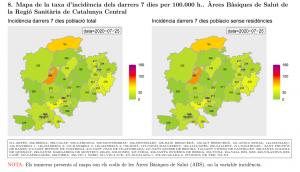 Taxa incidència a les ABS de la Catalunya Central