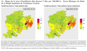 taxa incidència Catalunya Central - actualització 6.09.2020