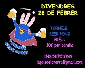 torneig beer ping - divendres 28 de febrer
