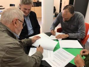 Firma del conveni de cessió de l'Ermita de Sant Sebastià
