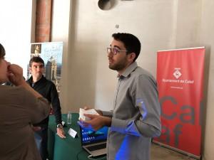 Marc Arenas, Tècnic de Medi Ambient de l'Ajuntament de Calaf a la Setmana de la Mobilitat Sostenible i Segura