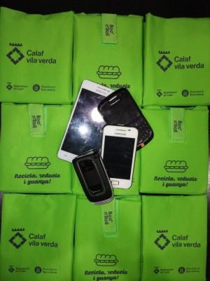 Mòbils recollits campanya reciclatge