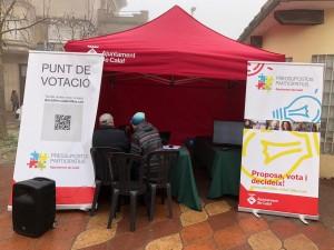 Punt de votació físic Pressupostos Participatius 2019