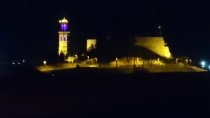 campanar de Calaf lila