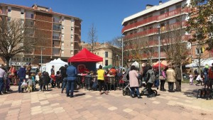 showcooging a la plaça dels Arbres de Calaf d'Ada Parellada