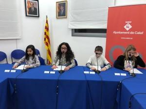 Discurs membres entrants al Consell d'infants del curs 2019-2020
