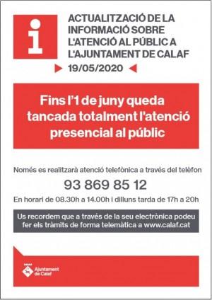 Atenció al públic Ajuntament de Calaf