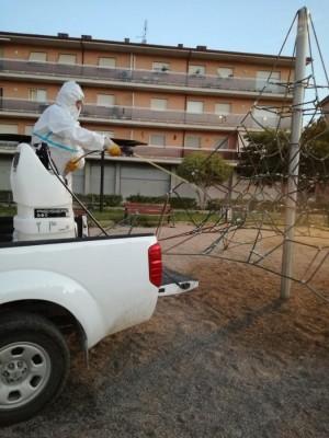 Desinfecció parcs Calaf