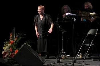 Teresa Escolà en el concert del seu d'homenatge