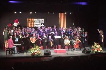 Cant final en el concert del seu d'homenatge