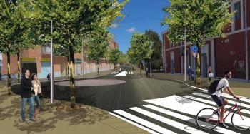Imatge virtual del futur passeig a la carretera de Manresa