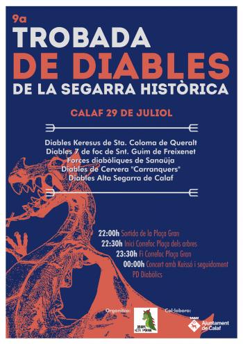 9a Trobada de Diables de la Segarra HIstòrica