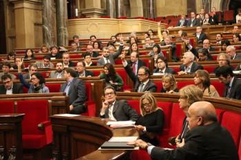 Votació al Parlament en la sessió del dijous, 30 de novembre de 2014