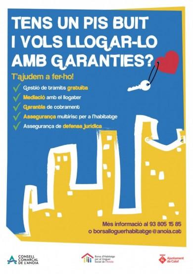 Cartell per a propietaris - campanya lloguer social Calaf (Anoia)