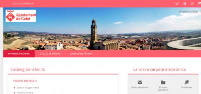 nova seu electrònica de l'Ajuntament de Calaf
