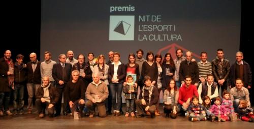 Foto de premiats de la primera 'Nit de l'Esport i la Cultura'