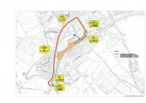 Itinerari alternatiu obres carretera de Manresa