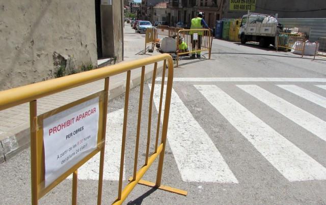 Comencen les obres per millorar la mobilitat de vehicles i vianants a l'avinguda de la Pau de Calaf