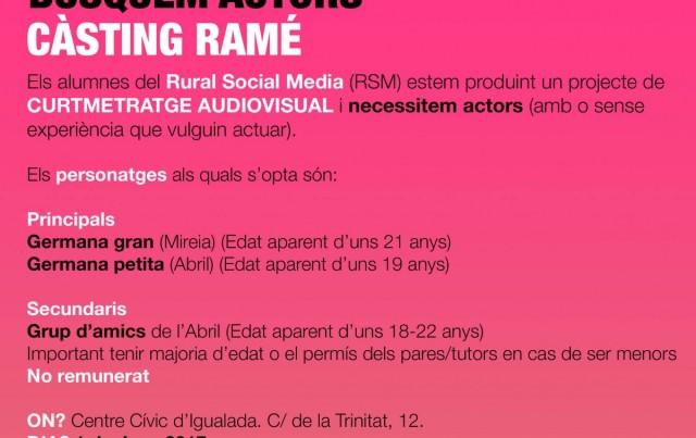 Els alumnes de Rural Social Media convoquen un càsting per a un curtmetratge
