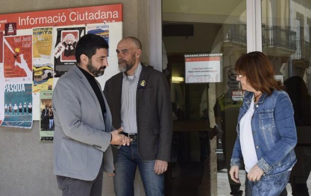 El conseller Chakir El Homrani visita l'Ajuntament de Calaf