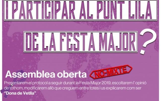 Participa al Punt Lila de la Festa Major!
