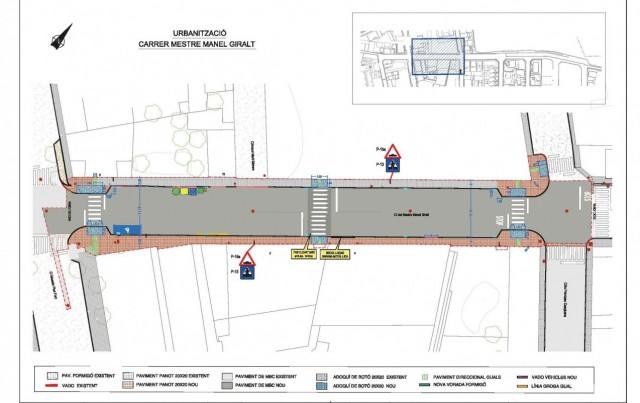 Iniciada la fase 1 de la reforma del paviment i del clavegueram del C/ Mestre Manel Giralt