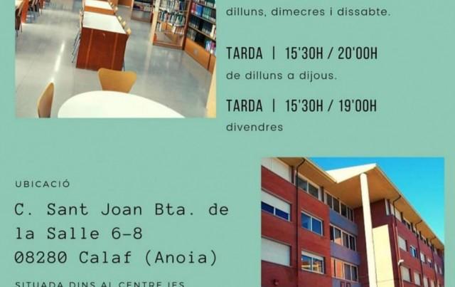Inici del nou curs del Club de Lectura amb ampliació d'horaris a la Biblioteca Municipal de Calaf