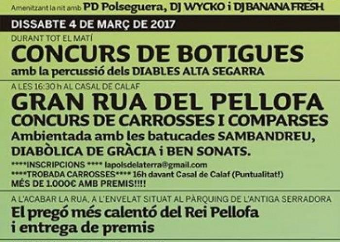 Calaf es prepara per gaudir de la Festa del Pellofa el 3, 4 i 5 de març