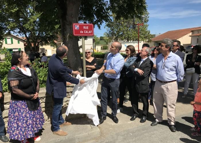 Soual dedica un carrer a Calaf en l'any del desè aniversari de l'agermanament