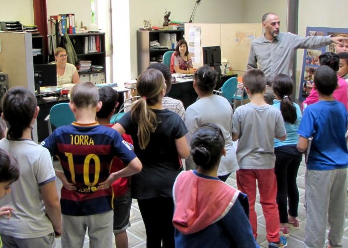 Una cinquantena d'alumnes de l'Escola Alta Segarra visiten l'Ajuntament de Calaf